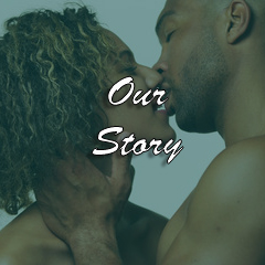 our story about us black n kinky couple love kiss intimacy